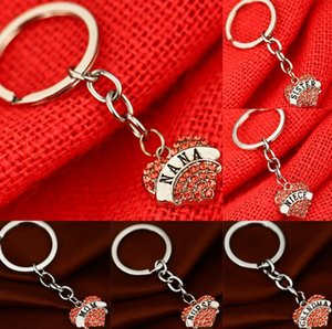 Pink Peach Heart Family Members Mom Daughter Grandma Affection Love Engraved Keychain Gift KR006 Keychains mix order 20 pieces a lot