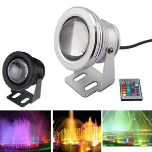 30pcs 10W водонепроницаемый RGB LED прожектор DC12V подводный бассейн Светодиодные лампы аквариум Underwater Прожекторы теплый белый холодный белый
