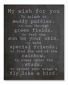 """деревянный знак-мое желание для вас, чтобы плескаться в грязных лужах, мемориальная доска подарок для моего желания к вам 10 """" *8"""""""