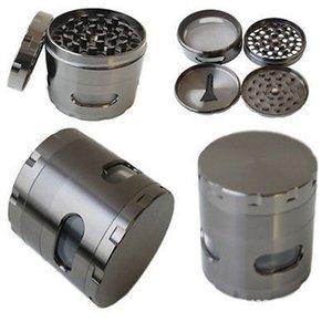 Nuovo fumo 4 strati Grinder metallo tabacco smerigliatrice il tubo di fumo di erbe Spice CNC Herb smerigliatrici del tabacco Crusher