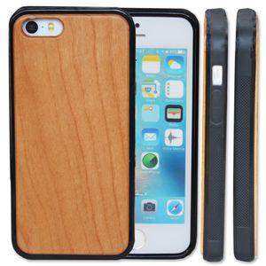 Prix raisonnable bois cas de téléphone sur mesure pour iPhone 5 5S SE 6 6S 7 8 plus 10 X cas en bois de cerisier couverture de téléphone portable en bambou S9 S8 S7 Note 8
