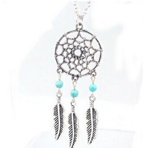 4 Arten Maxi Halskette Mode Hot Anhänger Halsketten Legierung Dream Catcher Mädchen Halskette für Frauen Aussage Halskette Schmuck