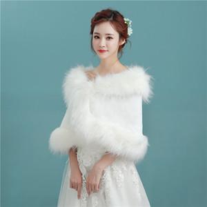 New Arriva Sleeveless Faux Fur Wedding Wraps Elegant Bridal Bolero for Wedding Party P032
