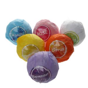 6 pièces / lot 120g / Bubble naturel bain 4,2 oz balle bombe à la main SPA Bain Fizzy gros Livraison gratuite