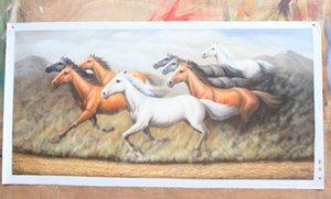 Pintura al óleo enmarcada del arte animal de Horsesed, de Handcraft puro en la lona de alta calidad para los tamaños múltiples de la decoración de la pared