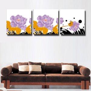 3 Pçs / set flores abstratas Imagem Moderna Casa Decoração Da Parede Pintura Da Cópia Na Lona Para Casa Decorar # 122