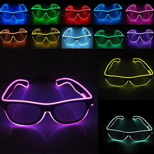 NEW LED Party Glasses Fashion EL Wire glasses عيد الميلاد هالوين الحزب بار الديكور المورد نظارات مضيئة نظارات WX-G03