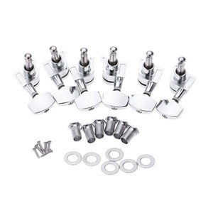 6pcs set Chrome Lock Sealed Guitar Tuning Pegs Tuners Machine Heads 3R 3L Electric Acoustic Guitar Parts
