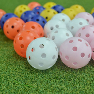Toy Ball Indoor For Children Drill With Holes Training Sports Golf Balls Hollow Hole Sphere Swing Practice Multicolor Optional 0 38gr H
