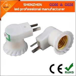 plugue de alimentação fábrica com suporte da lâmpada interruptor E27 parafuso parede, suporte da lâmpada plástico oferta especial a conversão do grupo
