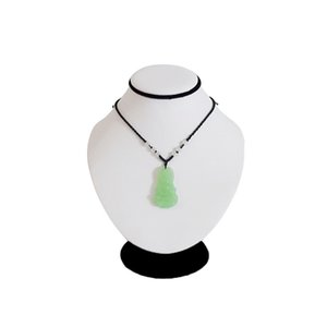 Colgante hecho a mano blanco de la exhibición de la joyería de la PU, estante de exhibición del cuerpo del soporte del collar. Mannequin Necklace Holder Doll 18CM height