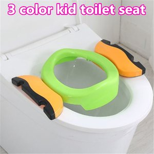 Stylish 3 color children bathroom toilet Foldable Toddler Training Toilet Seat Protable baby Safety hot toilet seat kid393