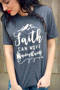 Fede Can More Mountains Casual Donna Manica corta O Collo Grigio Magliette Allentato Plus Size Xs-2xl T-shirt per le donne Tees