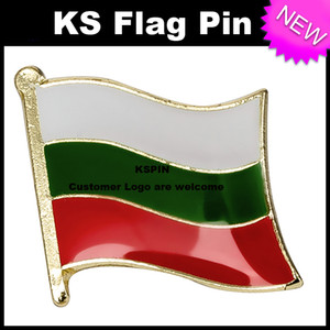 불가리아 플래그 배지 플래그 핀 10pcs 많이 무료 배송 XY0256