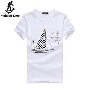 Toptan-Pioneer Camp.2017 Yaz Yeni Moda Erkek T-Shirt Shorts100% Pamuk Baskı Gevşek Spor T Shirt Marka Erkek Giyim 677100