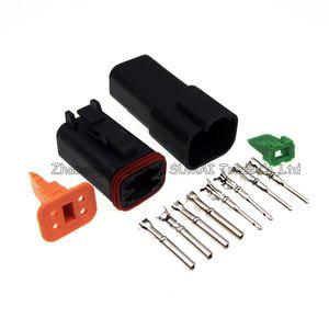 Deutsch DT06-4S ve DT04-4P 4 Pin Motor / Şanzıman BMW, Audi, VW araba, vb için su geçirmez elektrik konnektörü.