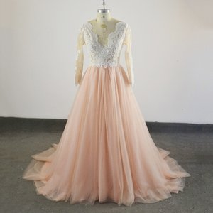 Real Sample New Arabic Long Sleeves Lace Appliques Evening Dress Capped Floor Length Prom Dress Pink Custom Formal Evening Gowns Plus Size