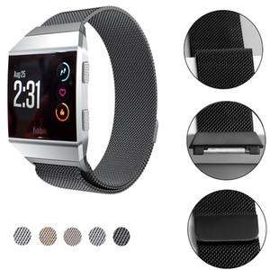 Für Fitbit Ionic Bands Magnetic Ersatzband-Armband Edelstahl-Metall-Uhrenarmband-Mesh-Strap mit stärkerer Magnetschließe 2018