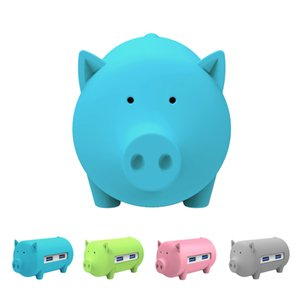 Creative Pig USB Hub with 3 usb Ports,SD TF Card Reader for MacBook Air Laptop PC Support OTG All in one function Cute piggy HUB Card reader