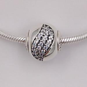 Charms bonheur Essence Fait argent 925 Fit Style Européen Marque Bracelets Colliers ALE 796021CZ perles pour la prise de bijoux