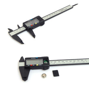 150mm 6 polegadas LCD Digital Eletrônica De Fibra De Carbono Vernier Caliper Calibre Micrômetro