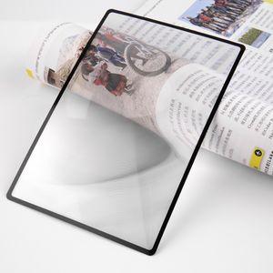 180x120mm удобный A5 плоский ПВХ лупа лист X3 книга страница увеличение увеличительное стекло для чтения объектив новый