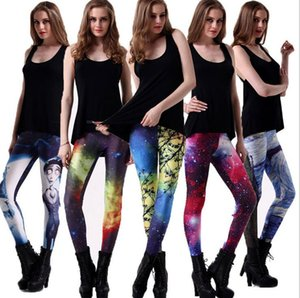 New arrival Explosive Star Digital Print Sexy Leggings LW048 Women's Leggings