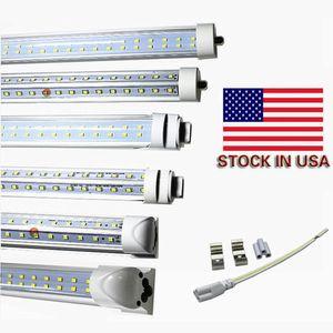 tube de lumière conduit 8ft gros 72W Tube LED T8 8ft FA8 Simple Pin G13 R17d intégrés Double côtés AC85-265V UL DLC