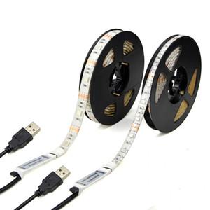 Strisce LED 5V USB 1M 2M 3M 4M 5M SMD3528 RGB SMD5050 Luci flessibili a nastro a LED per TV Car Computer Tenda di illuminazione