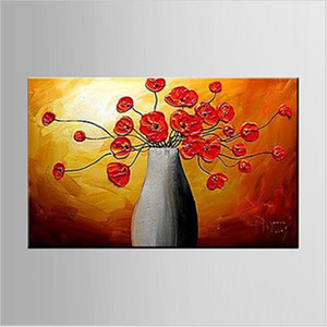 Hand-painted Modern Home Decorations Wall Decor Flower Artwork Abstract Floral Oil Paintings on Canvas Wall Art for Living Room