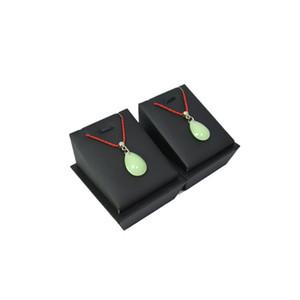 Новое прибытие 2 шт. мода ювелирные изделия дисплей башня горизонтальный черный PU ожерелье держатель деревянный кулон серьги стенд 7*8*6.5 cm