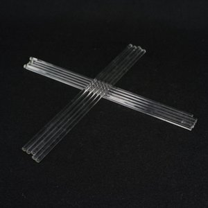 Wholesale- LOT10 6x300mm Lab Glass Stirring Rods Borosilicate High Resistant Stirrer