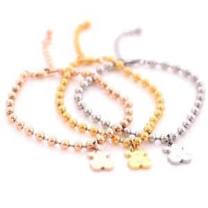 Розовое Золото PlatedSilver Милый Медведь Шарм Цепи Браслет Женщин Животных BraceletsBangles Женская Цепь