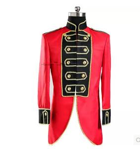 Özel smokin mahkeme törenleri ustası tiyatro stüdyo tema giyim giyim kırmızı swallowtail Erkekler Kostümleri