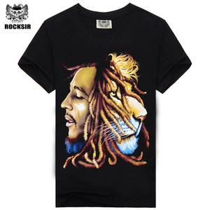 Venda por atacado- Alta Qualidade Bob Marley Quotes Música Reggae Rastafari dos homens de alta qualidade tee t-shirt vestido camisetas camisa roupas camiseta