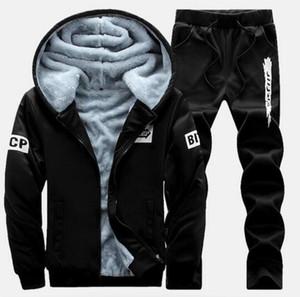 New Winter Plus Velvet Coats Men Hoodies Warm Thicken Slim Fit Sporting Tracksuits Mens Hoodies And Sweatshirts