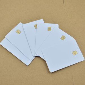 10 adet / grup ISO7816 SEL 4442 Çip Ile Beyaz PVC Kart İletişim IC Kart Boş İletişim Akıllı Kart
