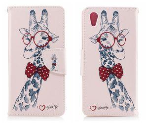 Flip Cover per SONY Xperia XA Case Luxury Wallet Modello in pelle Giraffe Animal per SONY Xperia XA1 XA 1 Plus Custodia Cover Flip