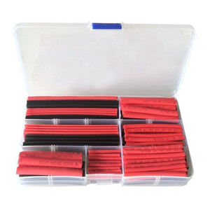 150pcs 2:1 Heat Shrink Tubing Set Cable Sleeving Wire Wrap 8 Size Black Red Color 1.0 2.0 3.0 4.0 6.0 8.0 10.0 13.0mm
