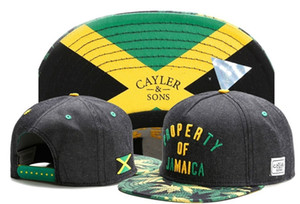 Cayler Sons DROP ERTY DE JAMAICA gorras ossos snapback Caps bonés de beisebol Ajustável dos homens 100% algodão mulheres chapéu de sol da moda marca de esportes