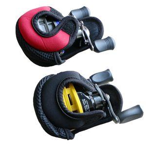 Carrete Bolsa de bajo perfil Pesca Spinning arañazos carrete de nylon Prevención de Safty caso de manga Carpa Peces cubierta protectora Rueda