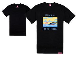 dauphins roses t-shirts dauphins ramant hanche hopt-shirt mode cool tees et tops rock rock été Skate streetwear