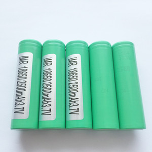100% Original Authentic Samsung 25R 2500mah 20A 18650 Battery For Electronic Cigarette Box Mod Fedex Tax Free Shipping
