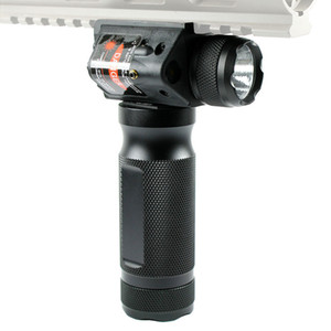 Tactical Foregrip Hand Grip Cree LED Torcia Light Red Laser Sight Fit Fit 20mm Rail