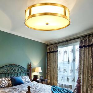 American Rustic Copper Lamps Plafoniere a LED per la cucina di casa Luce Retro Vintage Lampada da soffitto Lampara Techo Luminaria