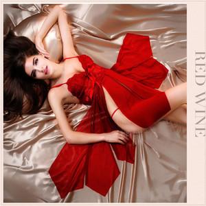 Sexy Sleepwear das Mulheres Casual G-String Lace Underwear Sleepwear das Mulheres 3 Cores Nightgowns Ladies Nightwear Nighties Para As Mulheres