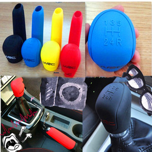 Universal Manual Car Silicone Gear Head Shift Pomello Coperchio Gear Shift Collari Freno a mano Grip Car Cover freno a mano caso