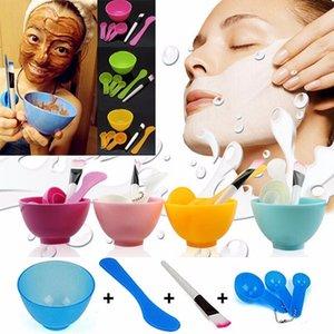 Al por mayor-6 en 1 Nuevas Señoras de Las Mujeres Maquillaje Belleza DIY Máscara Facial Tazón Cepillo Cuchara Herramientas Stick Set Herramientas envío gratis