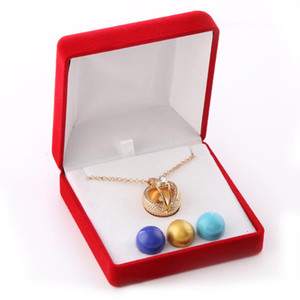 High Quality Red Velvet Harmony angel ball Display Holder Box Tie Clip Boxes Jewery Storage Organizer Free Drop Shipping