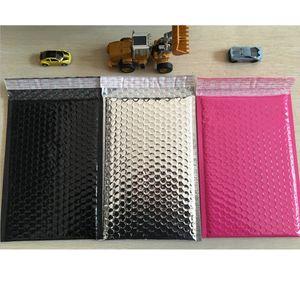 200pcs / lot sacchetti d'imballaggio variopinti d'argento rosa 6.25X8.75inches / 160X225MM Spazio utilizzabile poli buste di busta della bolla Imbottito il sacco di spedizione auto